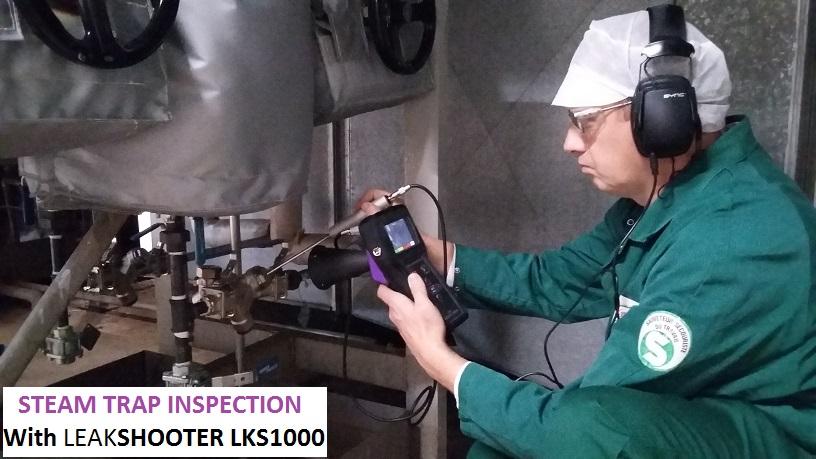 Installation avec un purgeur vapeur du type thermodynamique (sous 9 BAR de pression vapeur)