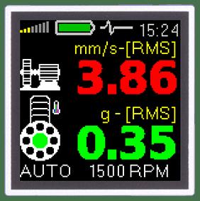 Mesures valeur RMS O-PEAK vélocité accélération de vibration